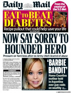 Daily Mail, January 2016